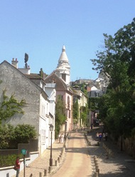 The winding streets of Montmarte